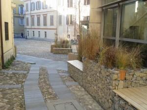 Realizzazione arredo urbano con gabbioni prefabbricati presso Spazio Gerra a Reggio Emilia