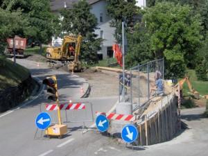 Realizzazione marciapiedi nel Comune di Villa Minozzo, Cerré Sologno, Reggio Emilia