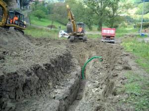 Sistemazione Frana con condotta di drenaggio acque profonde, località Melano, Reggio Emilia. Cliente: Bonifica Emilia Centrale