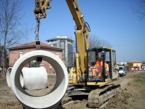 Tombamento canale in cemento a Fogliano, Reggio Emilia
