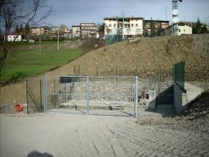 Costruzione stazione di pompaggio impianto fognario con gabbionate in pietrame prefabbricate - IREN, Villa Minozzo, Reggio Emilia