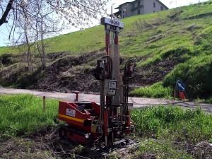 Realizzazione prova penetrometrica DPSH a Razzolo, Comune di Villa Minozzo, Reggio Emilia.