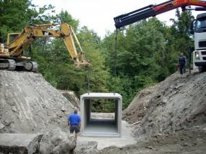 Lavori di ripristino stradale per ponte strada comunale a Secchio, Reggio Emilia, per cliente Regione Emilia Romagna