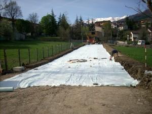 Realizzazione sottofondo stradale per nuova bretella via Borghi a Villa Minozzo