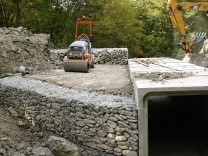 Lavoro di sistemazione ponte su strada comunale per Regione Emilia Romagna, Secchio, Reggio Emilia
