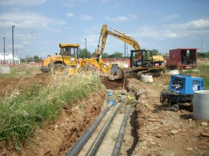 Posa condotte acquedotto e gasdotto presso Nuovo Polo della Sicurezza a Vignola, Modena