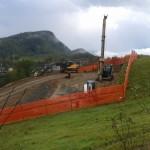 Realizzazione pali trivellati di fondazione per un nuovo fabbricato privato a Felina (Reggio Emilia).