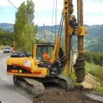 Trivellazione per consolidamento della sede stradale presso Gazzano, Reggio Emilia.